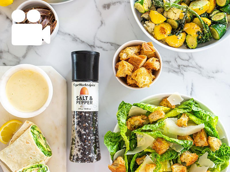 CAESAR DRESSING - 3 WAYS (SALAD, WRAP, ROASTED VEG)