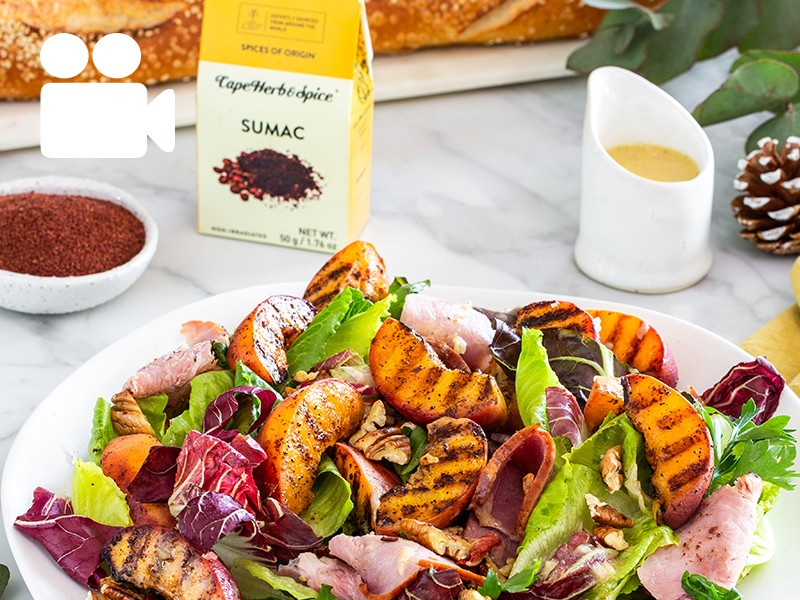 GRILLED PEACH AND GAMMON SALAD