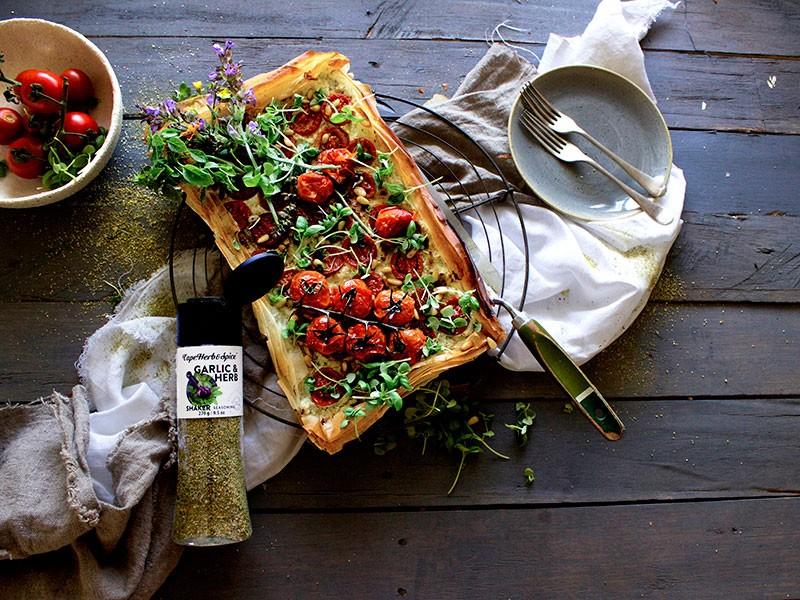 Roast Tomato & Ricotta Free-form Phyllo Tart