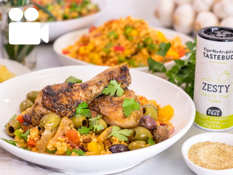 ZESTY MOROCCAN CHICKEN TAGINE