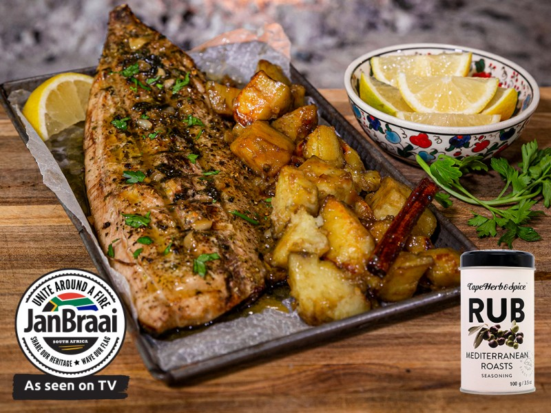 HOW TO BRAAI A WHOLE FISH, OPEN