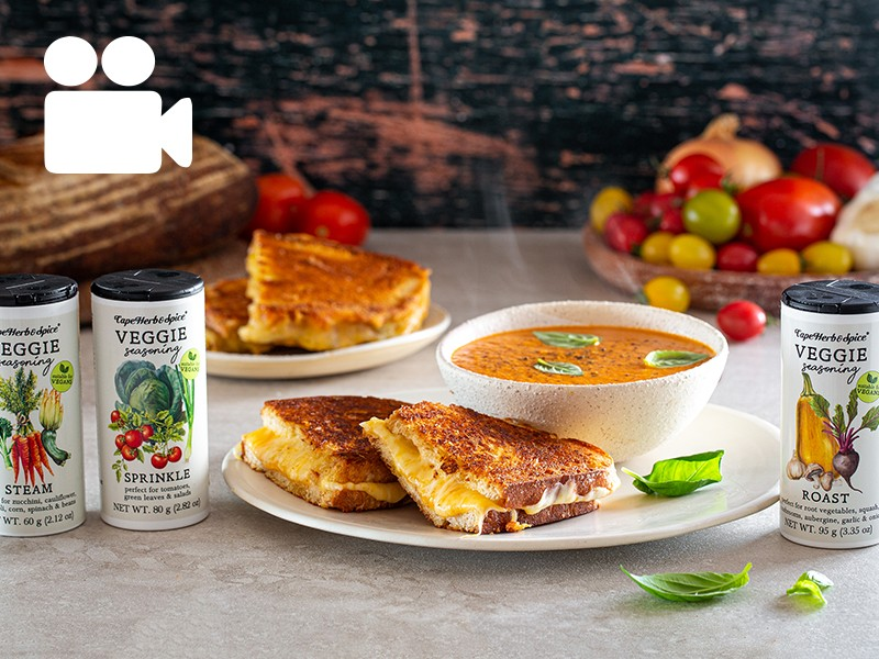GRILLED CHEESE & ROAST TOMATO SOUP