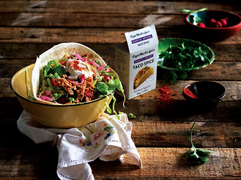 PULLED CHICKEN TACO WRAP